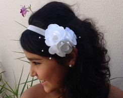 head band bouquet de flor