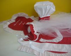 KIT CH� DE PANELA com avental masculino
