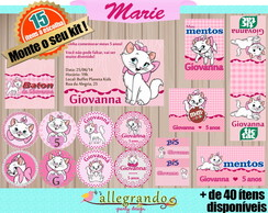Kit Para Impress�o - Gatinha Marie