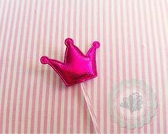Topper Coroa aplique pink