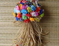 Buqu� Flores de Fuxico