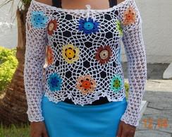 Blusa Flores ML