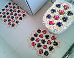 Conjunto de Banheiro Multi Flores