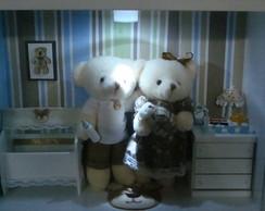 Porta Maternidade Proven�al Fam�lia Urso