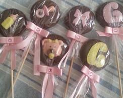 Pirulitos Personalizados de Chocolate