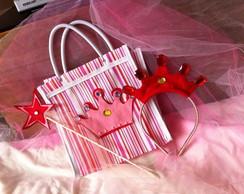 Kit Princesa sacola + tiara + varinha
