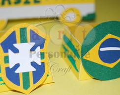 Forminhas Box Doces Copa Futebol Brasil