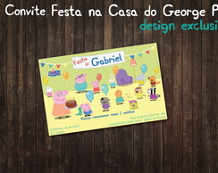 Festa na Casa do George Pig Convite