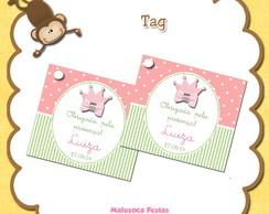 Tag Princesa Verde e rosa