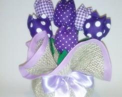Enfeite Floral Tulipas Roxo