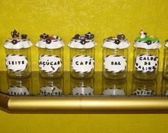 Kit com 9 Potes de Condimentos