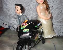noiva na moto