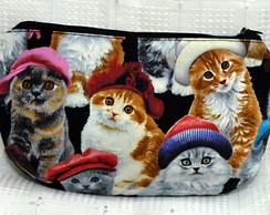 N�cessaire gatinhos de touca/chap�u