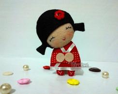 Lembrancinha Boneca Japonesa (kokeshi)
