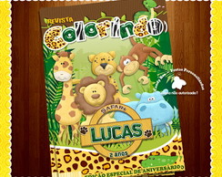 Capa revista colorir Safari - Arte