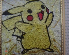 Pintura vitral do Pikachu