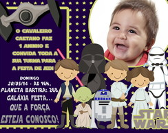 CONVITE E CART�O STAR WARS