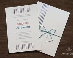 Convite Casamento Confete Papel Perolado
