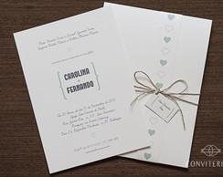 Convite Casamento Sonho Papel Perolado