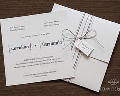 Convite Casamento Uni�o Papel Perolado