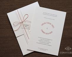 Convite Casamento Arco Papel Perolado