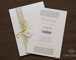 Convite Casamento Estrela Papel Perolado
