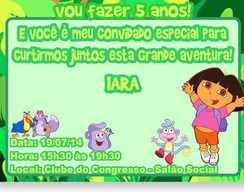 Dora Aventureira Convite Anivers�rio