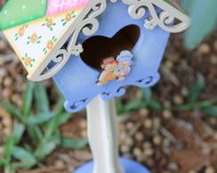Casinha de passarinho com base