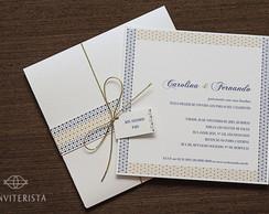 Convite Casamento Pontos Papel Perolado
