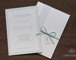 Convite Casamento Eixo Papel Perolado