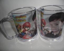 Caneca Mario Bros com Foto!