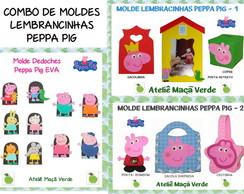 Combo De Moldes Lembrancinhas Peppa Pig