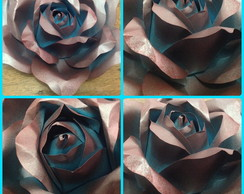 Rosa azul sombra prata