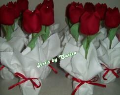 Enfeite de mesa tulipas