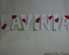 Letras Personalizadas tema Joaninha