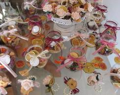 kit frutas secas velas & porta-guardanapo