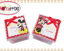 Caixinha de acr�lico da Minnie e Mickey