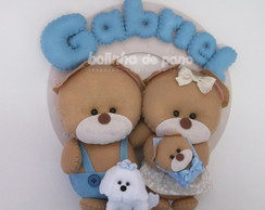 Enfeite Maternidade Fam�lia De Ursos