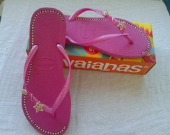 Havaianas Slim Light Pink com Strass