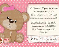 Convite Ursinha Rosa