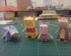 Kit Paper Toy 3D Ursinho Pooh c/ 4 pers