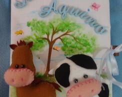 caderno decorado fazendinha