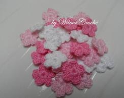 Mini Flores em croch� 30 unidades