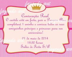 Arte Digital Convite Princesa Pink