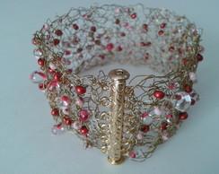 Bracelete de croch� e mi�angas