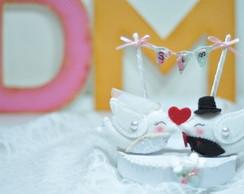 Birds In Love - Topo de Bolo Casamento