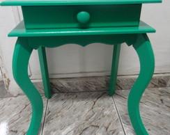 Criado mudo 1 gaveta verde