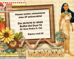 Convite Pocahontas