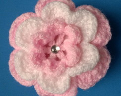 Sach� para sabonete flor branca e rosa