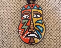 Colar M�scara Africana - Tribal